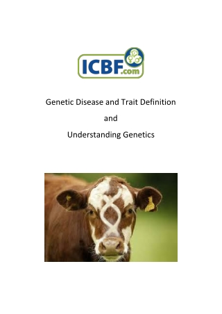 Genetic Disease and Trait Definition and Understanding Genetics