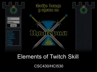 Elements of Twitch Skill