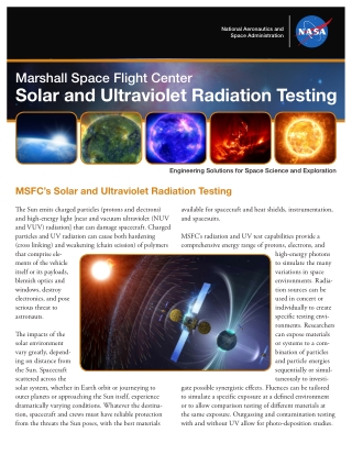 Solar and Ultraviolet Radiation Testing