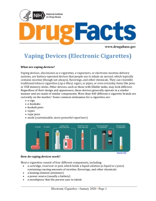 Vaping Devices (Electronic Cigarettes)