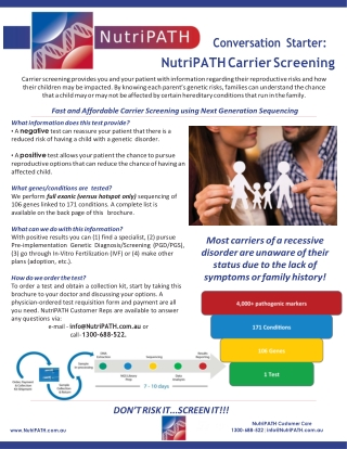 NutriPATH Carrier Screening
