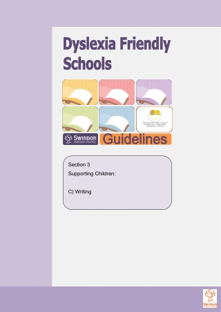 Section 3 Supporting Children: C) Writing