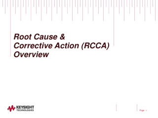 Root Cause &