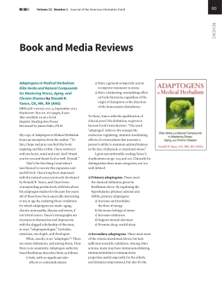 Book and Media Reviews