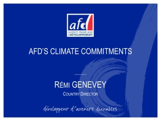 AFD'S CLIMATE COMMITMENTS
