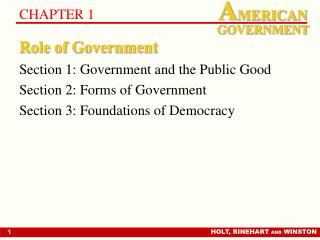 Part of Government