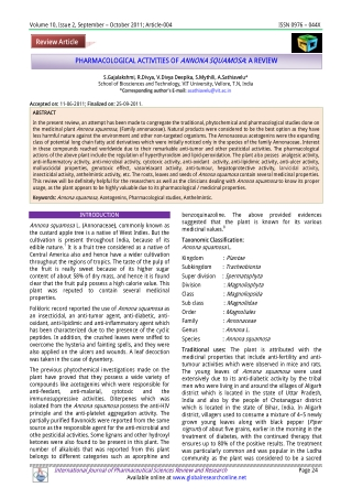 Review Article PHARMACOLOGICAL ACTIVITIES OF