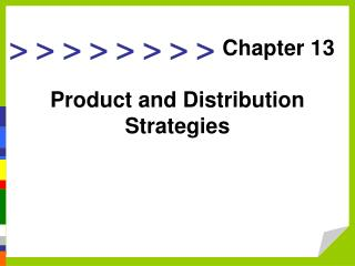 Item and Distribution Strategies