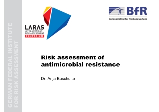 Risk assessment of antimicrobial resistance