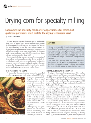 Drying corn for specialty milling