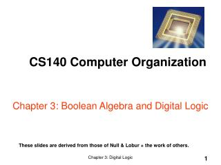Part 3: Boolean Algebra and Digital Logic