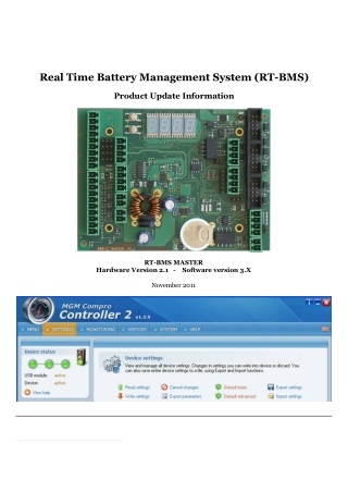 Real Time Battery Management System (RT-BMS)