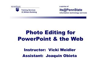 Photograph Altering for PowerPoint and the Web