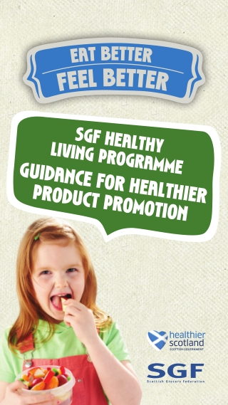 GUIDANCE FOR HEALTHIER PRODUCT PROMOTION