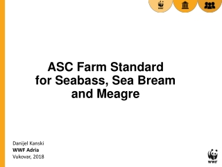 ASC Farm Standard for Seabass, Sea Bream and Meagre