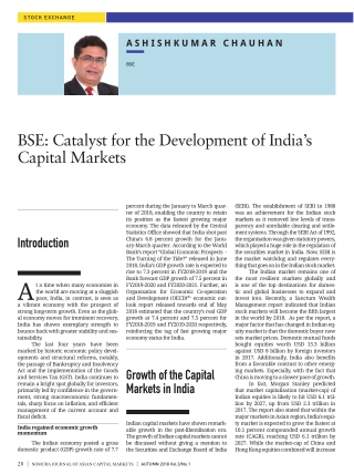 BSE: Catalyst for the Development of India's Capital Markets