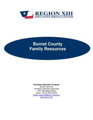 Burnet County Family Resources