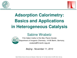 Adsorption Calorimetry: Basics and Applications in Heterogeneous Catalysis