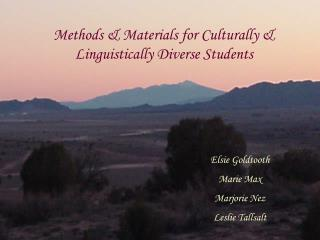 Techniques Materials for Culturally Linguistically Diverse Students