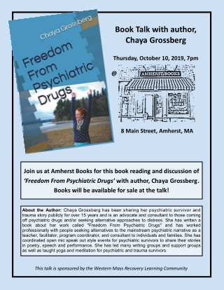 Book Talk with author, Chaya Grossberg