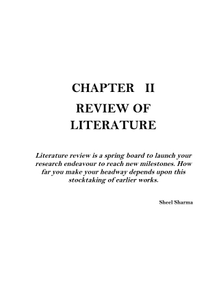 CHAPTER II REVIEW OF LITERATURE