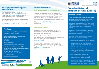 Croydon Referral Support Service (CReSS)