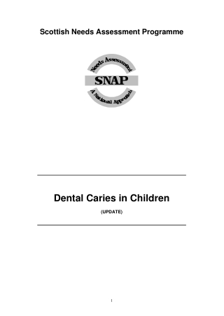 Dental Caries in Children
