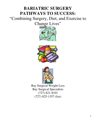 BARIATRIC SURGERY PATHWAYS TO SUCCESS: