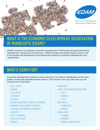 WHAT IS THE ECONOMIC DEVELOPMENT ASSOCIATION OF MINNESOTA (EDAM)?