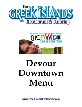 Devour Downtown Menu