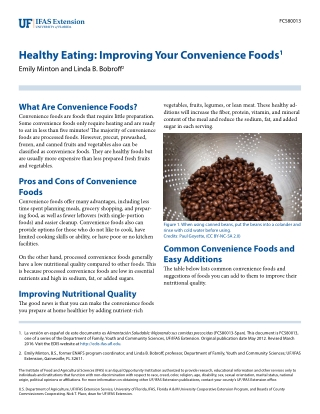 Healthy Eating: Improving Your Convenience Foods