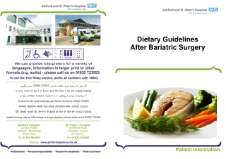 Dietary Guidelines After Bariatric Surgery