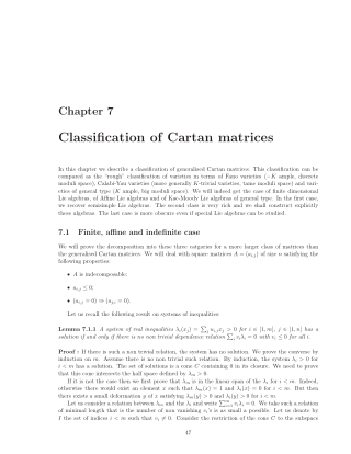 Classification of Cartan matrices
