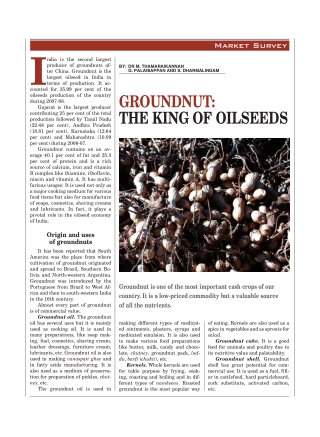 GROUNDNUT: THE KING OF OILSEEDS