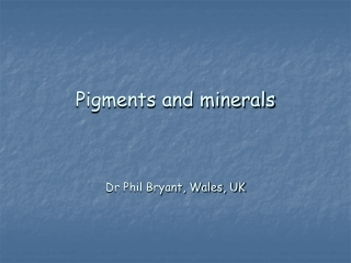 Pigments and minerals