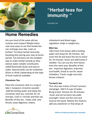 """Herbal teas for"