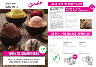 Vegan ice cream choices