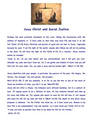 Christ and Social Justice