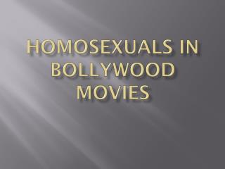 Gay people in Bollywood Films