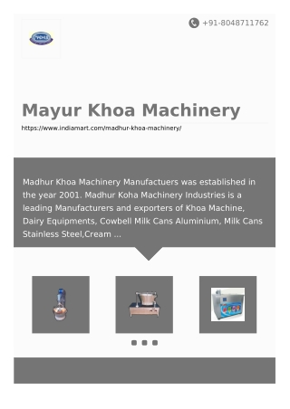 Mayur Khoa Machinery