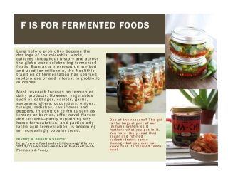 F IS FOR FERMENTED FOODS F IS FOR FERMENTED FOODS
