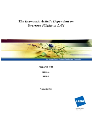 The Economic Activity Dependent on Overseas Flights at LAX