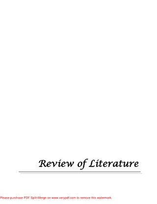 Review of L Review of Literature iterature