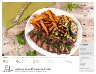 London Broil Marinated Steak