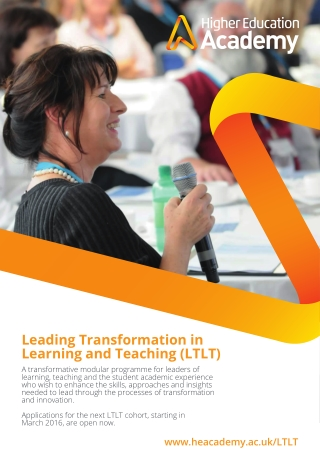 Leading Transformation in Learning and Teaching (LTLT)