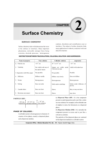 Surface Chemistry 2.12