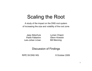 Scaling the Root