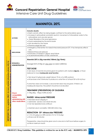 MANNITOL 20%