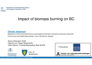 Impact of biomass burning on BC