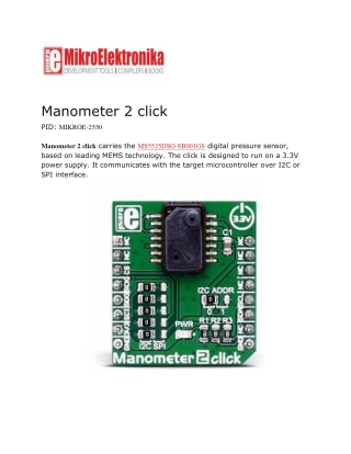 Manometer 2 click